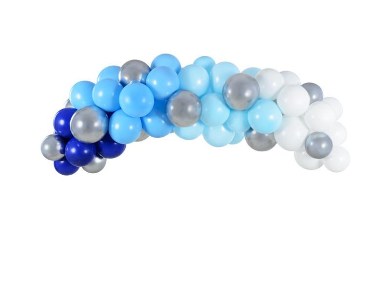 PD Balloon garland - blue, 200cm