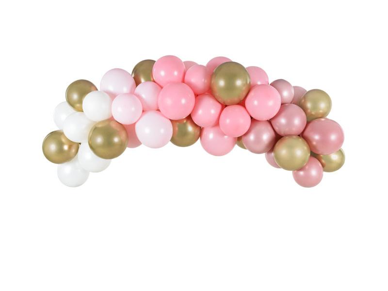 PD Balloon garland - pink, 200cm