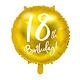 PD Foil Balloon 18th Birthday, gold, 45 cm