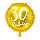 PD Foil Balloon 30th Birthday, gold, 45 cm