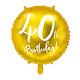PD Foil Balloon 40th Birthday, gold, 45 cm