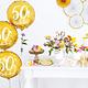 PD Foil Balloon 50th Birthday, gold, 45 cm