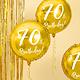 PD Foil Balloon 70th Birthday, gold, 45cm