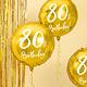 PD Foil Balloon 80th Birthday, gold, 45cm