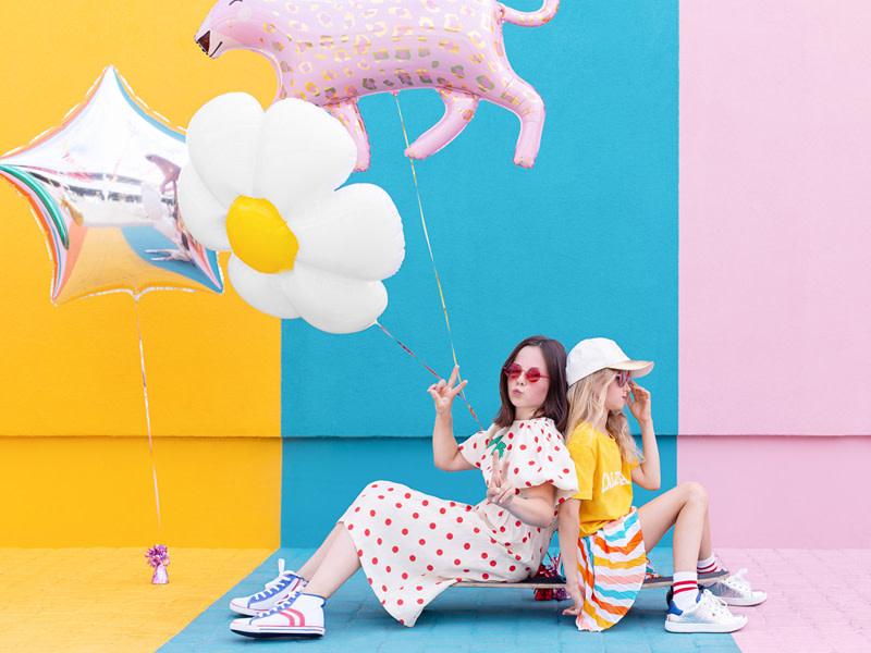 PD Foil Balloon Leopard, 103x63cm, mix
