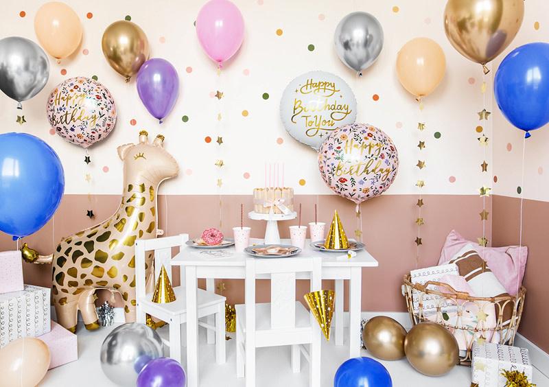 PD Foil balloon Happy Birthday To You, 35cm, white