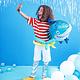 PD Foil balloon Shark, 92x48cm, mix