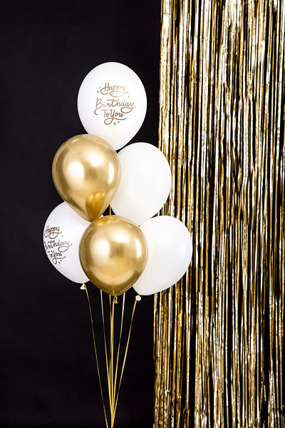 PD Balloons 30 cm, Happy Birthday To You, Pastel Pure White / 50 pc.