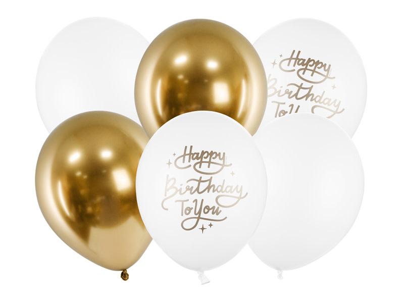 PD Balloons 30cm, Happy Birthday To You, mix 6 pcs.