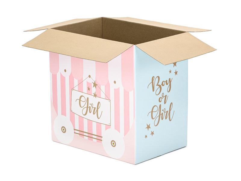 PD Balloons box - Boy or Girl, 60x40x60cm