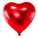 PD Foil Balloon Heart, 45cm, red