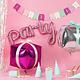 PD Foil Balloon Party, 80x40cm, pink