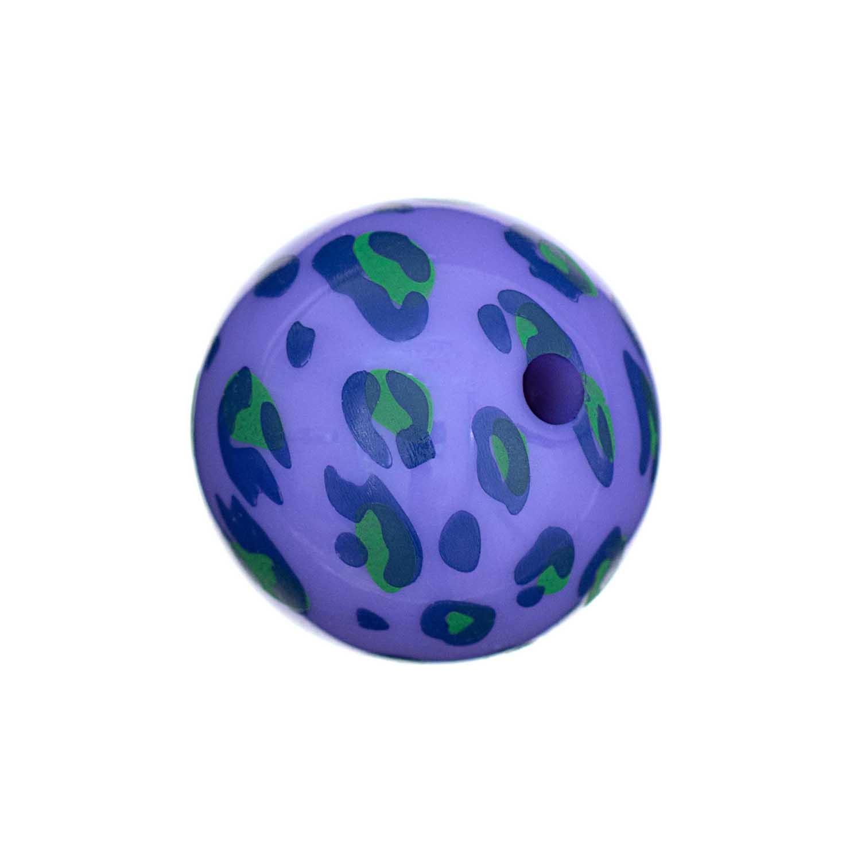 Rico NAY Acid Leo beads, lilac, 6 pcs, Ø 16 mm, 2 mm hole