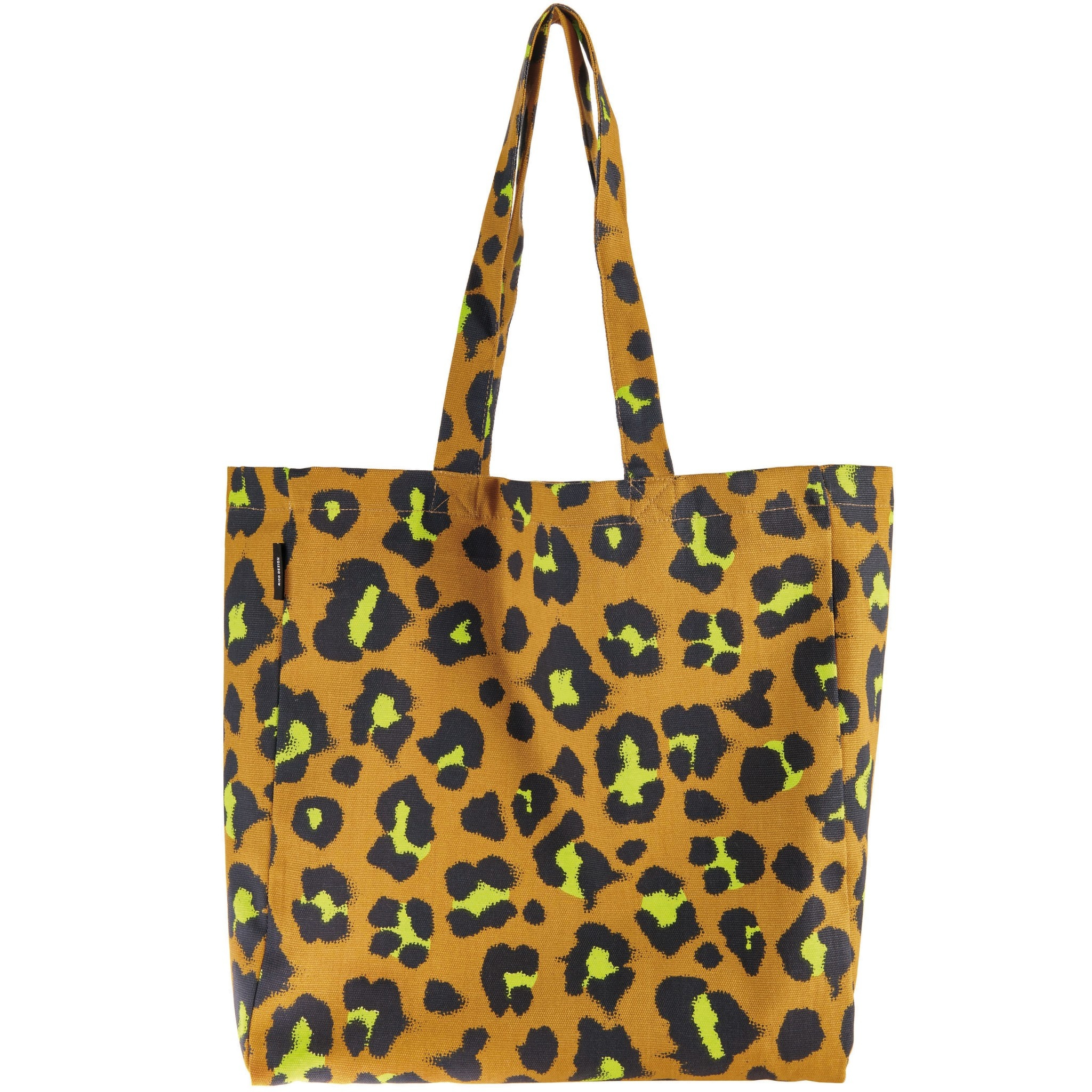 Rico NAY Canvas tote bag Acid Leo, caramell, 38x40x13cm, 100% cotton