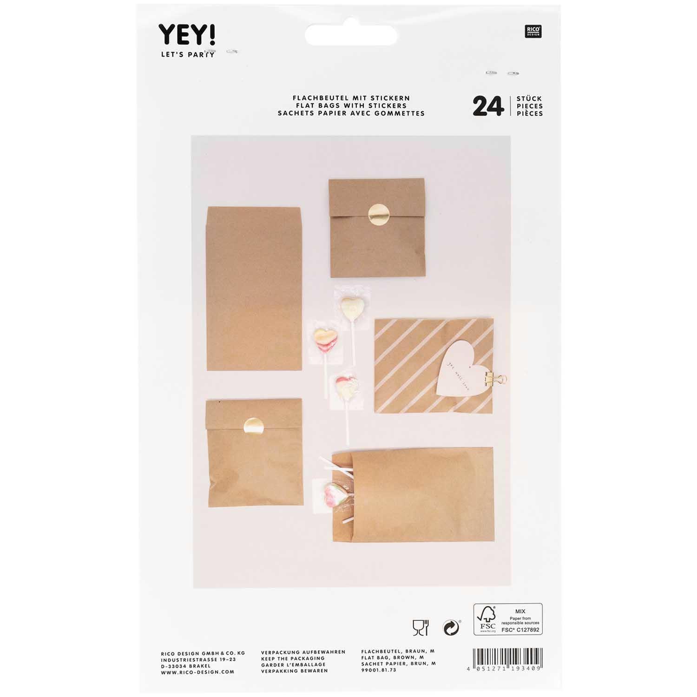 Rico NAY Flat bag brown, medium, 24 pcs, 130 mm x 225 mm FSC MIX