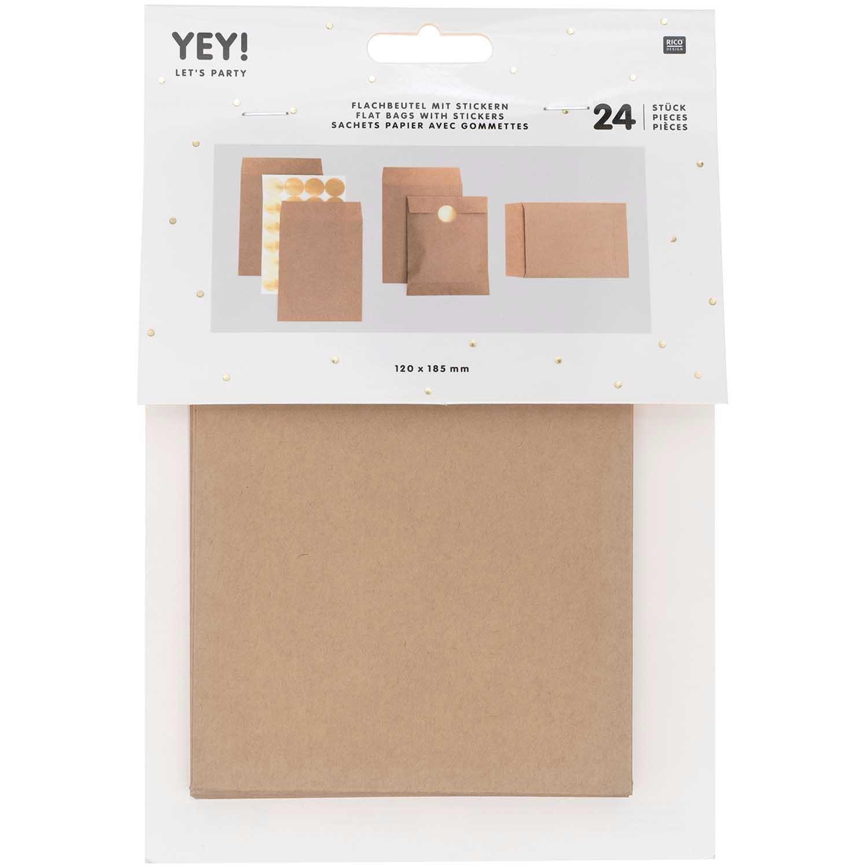 Flat bag brown, small, 24 pcs, 120 mm x 185 mmFSC MIX