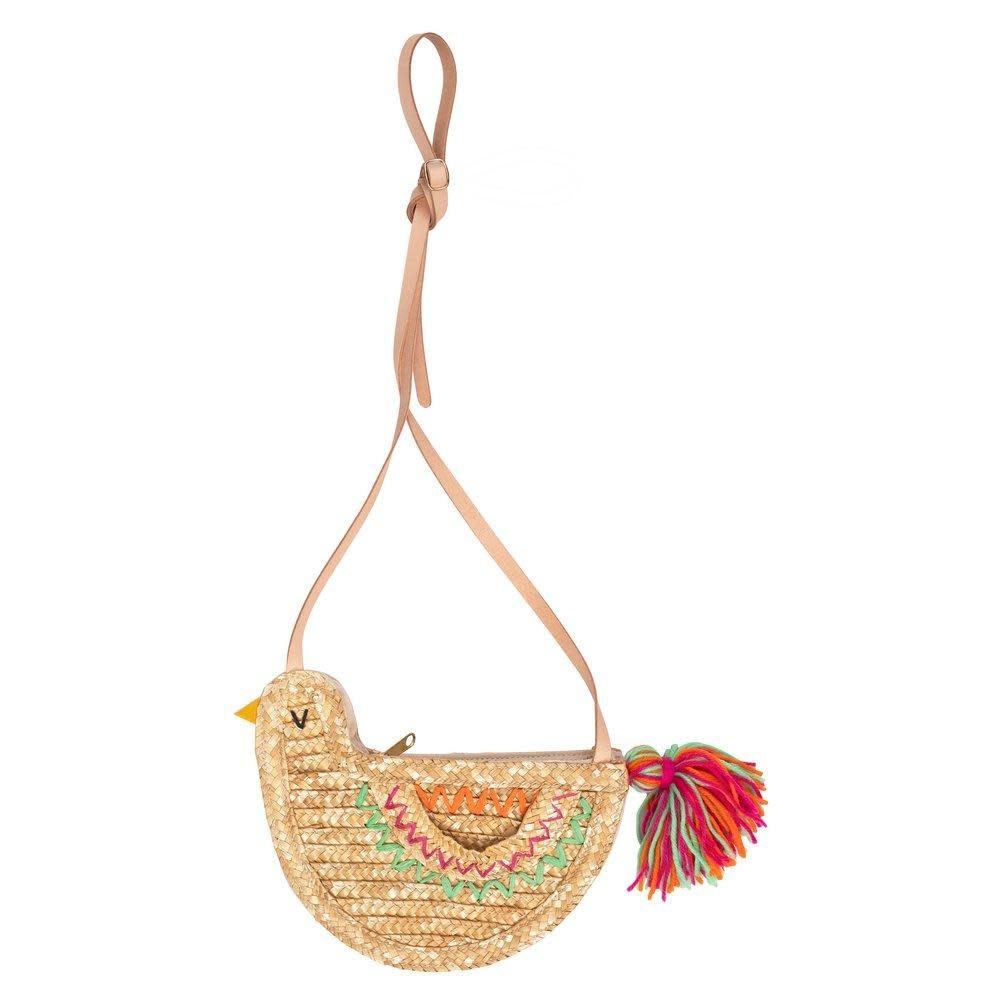 MERIMERI Bird straw bag