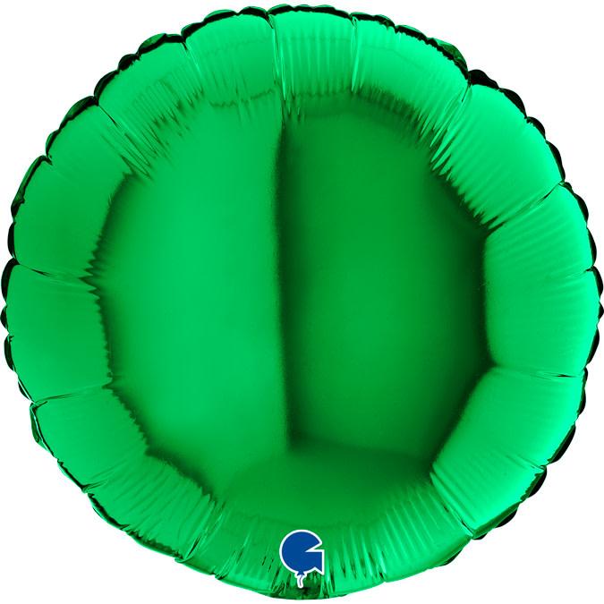 SMP circle foil balloon green 45 cm