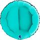 SMP circle foil balloon turquoise 45 cm