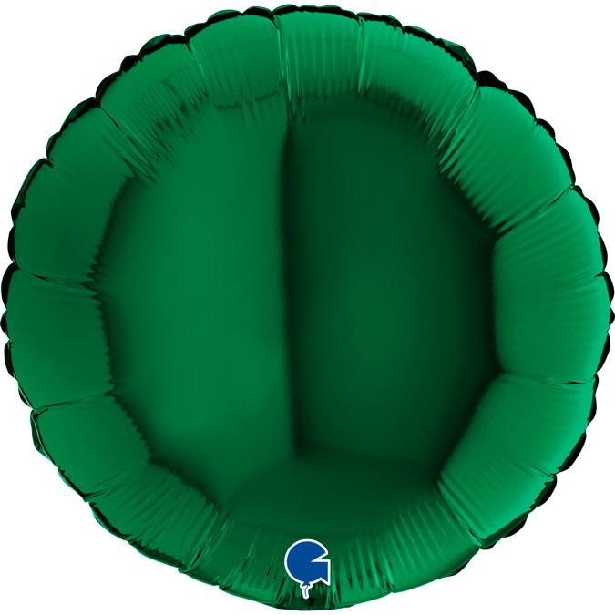 SMP circle foil balloon dark green 45 cm