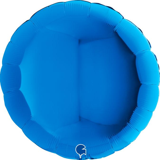 SMP circle foil balloon blue 90 cm