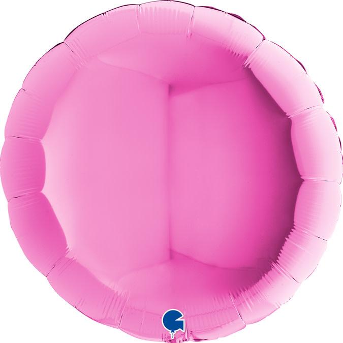 SMP circle foil balloon fuchsia 90 cm