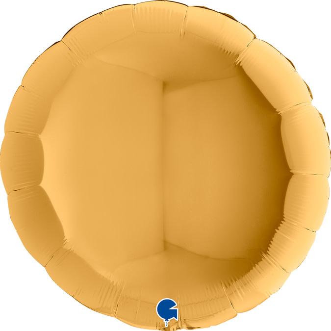 SMP circle foil balloon gold 90 cm