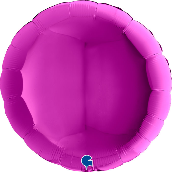 SMP circle foil balloon purple 90 cm