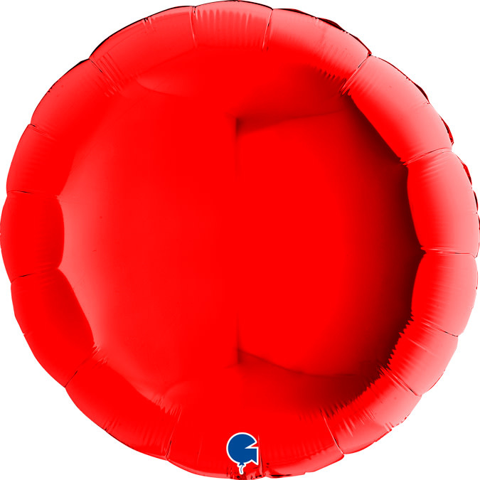SMP circle foil balloon red 90 cm