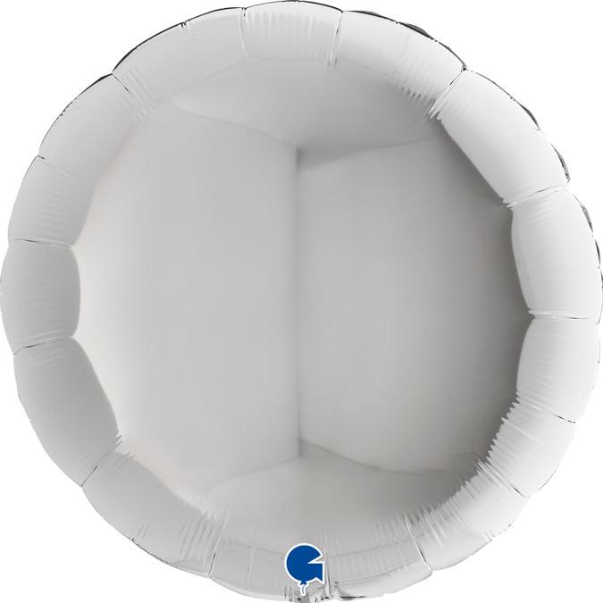 SMP circle foil balloon silver 90 cm