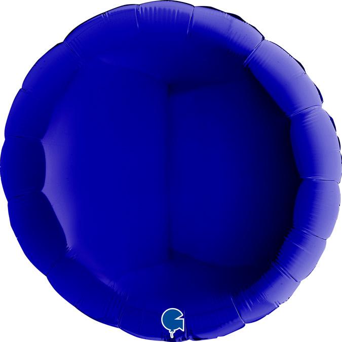 SMP circle foil balloon navy blue 90 cm