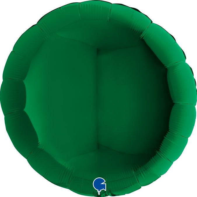 SMP circle foil balloon dark green 90 cm