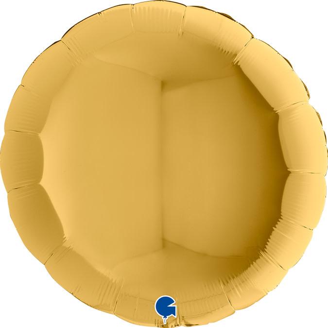 SMP circle foil balloon gold 5 90 cm