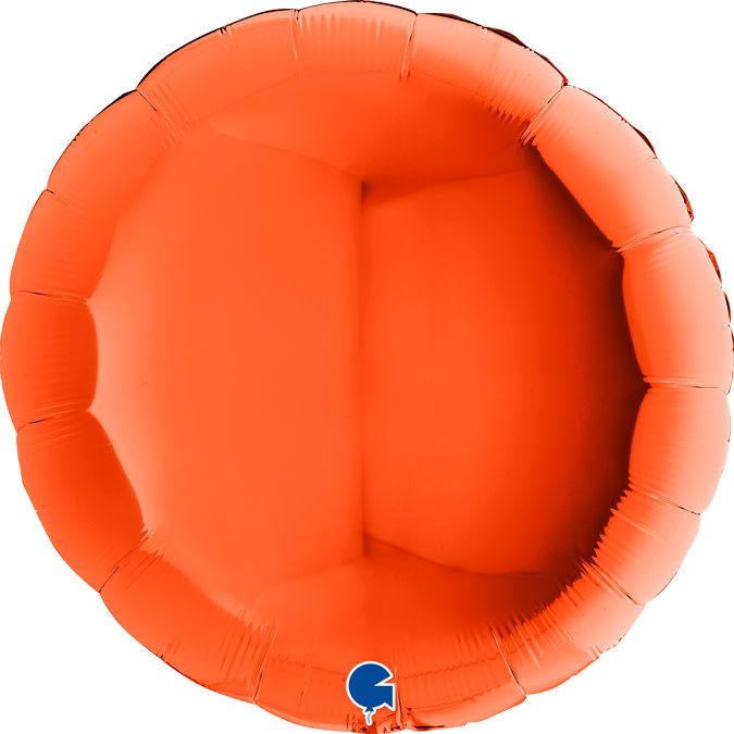 SMP circle foil balloon orange 90 cm