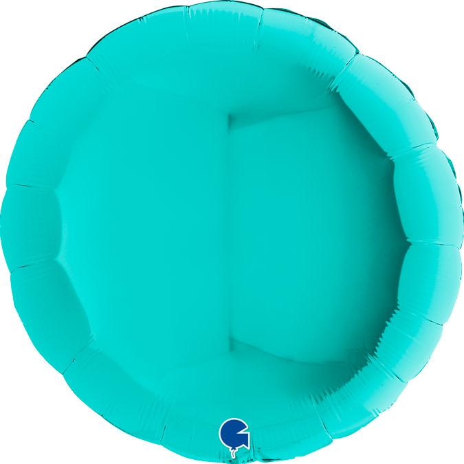 SMP circle foil balloon turquoise 90 cm