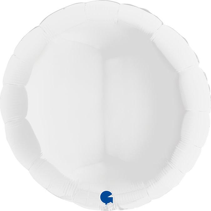 SMP circle foil balloon white 90 cm