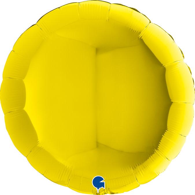 SMP circle foil balloon yellow 90 cm