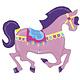 SMP carousel horse foil balloon 122 cm