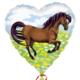 HH foil balloon heart horse 45 cm