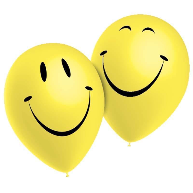 SMP 10 x smiley latex  balloons 28 cm