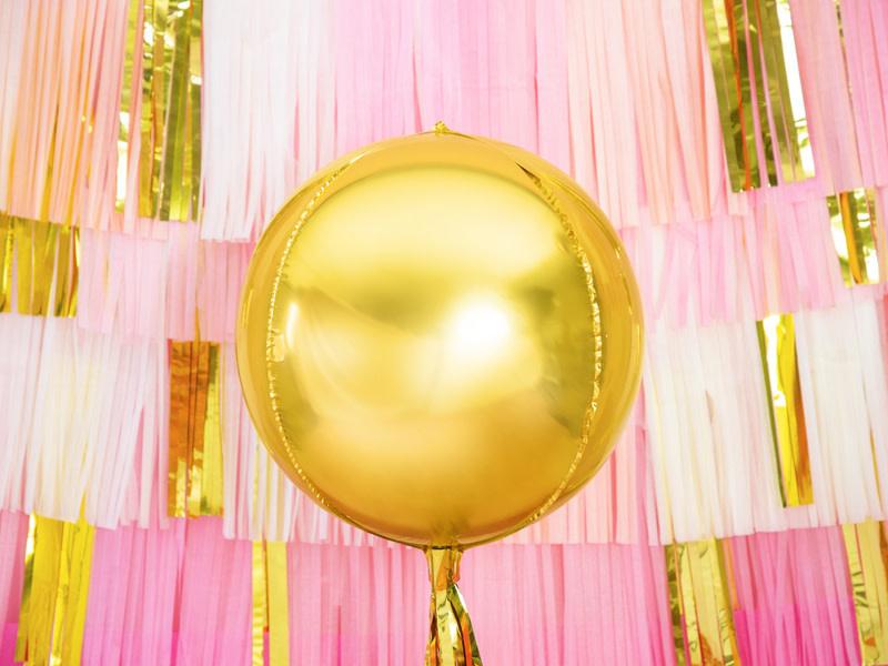 PD Foil Balloon Ball, 40cm, gold