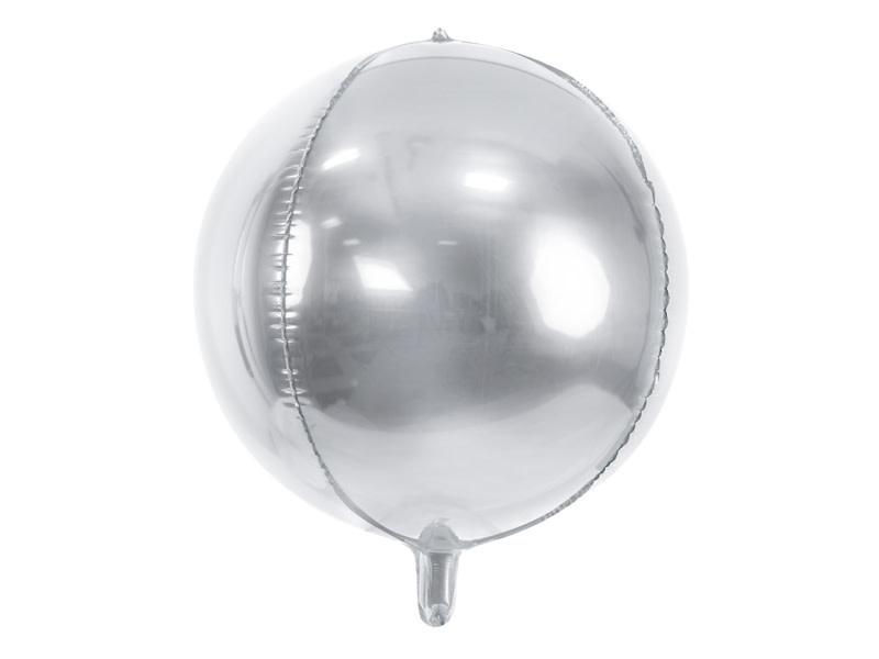 PD Foil Balloon Ball, 40cm, silver