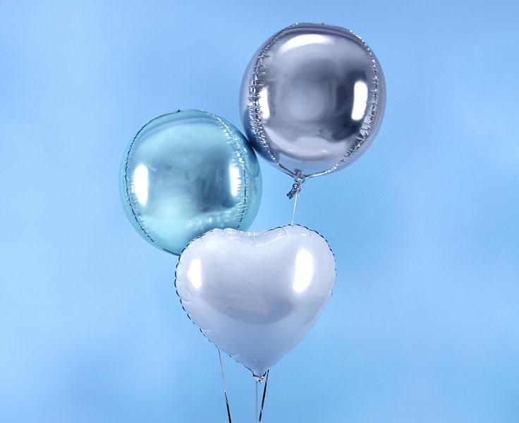 PD Foil Balloon Ball, 40cm, sky-blue