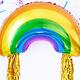 PD Foil balloon Rainbow, mix, 73x45cm