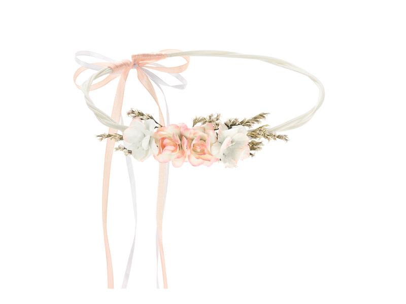 PD Flower crown, light peach, 18cm