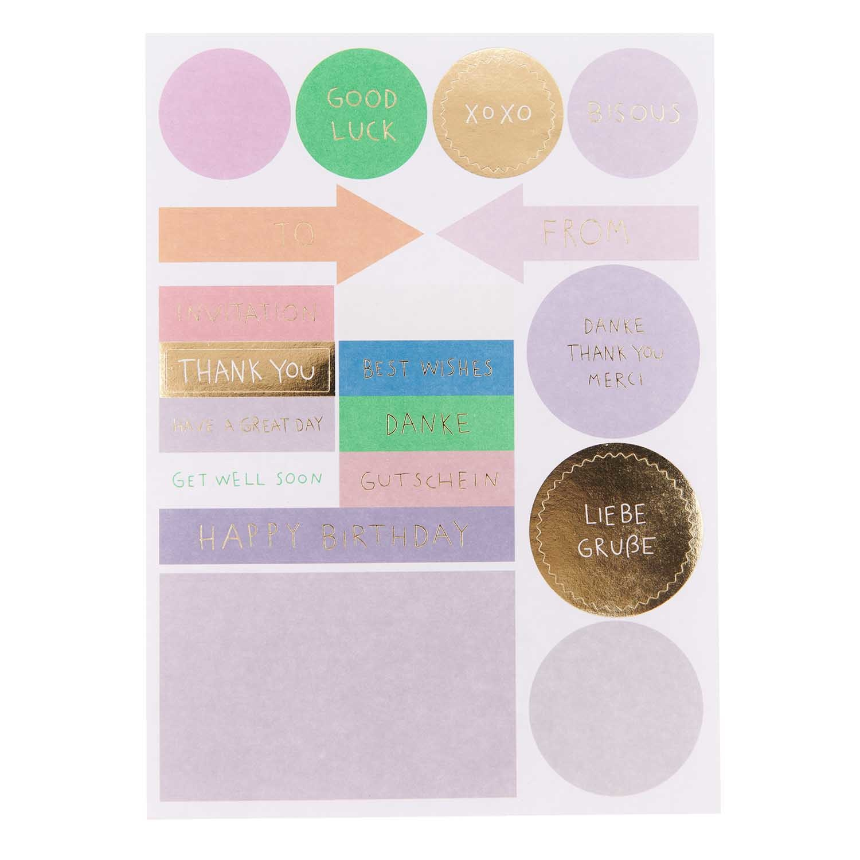 Rico NAY DIY Card Transformation, lilac (Card, envelope, confetti, stickers)
