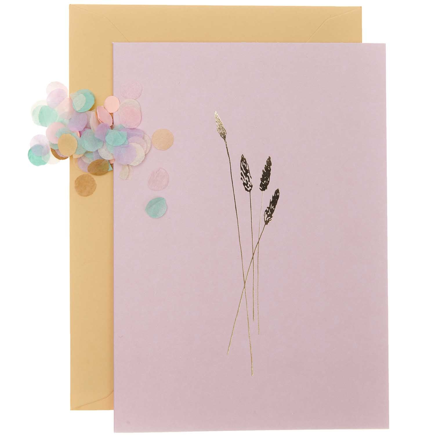Rico NAY DIY Card Transformation, pink  (Card, envelope, confetti, stickers)