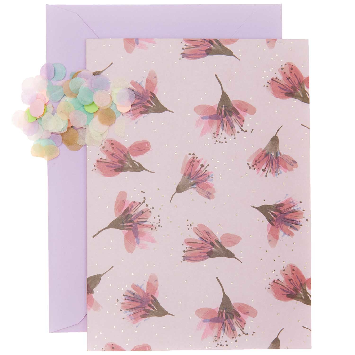 Rico NAY DIY Card Transformation, cherry blossom  (Card, envelope, confetti, stickers)