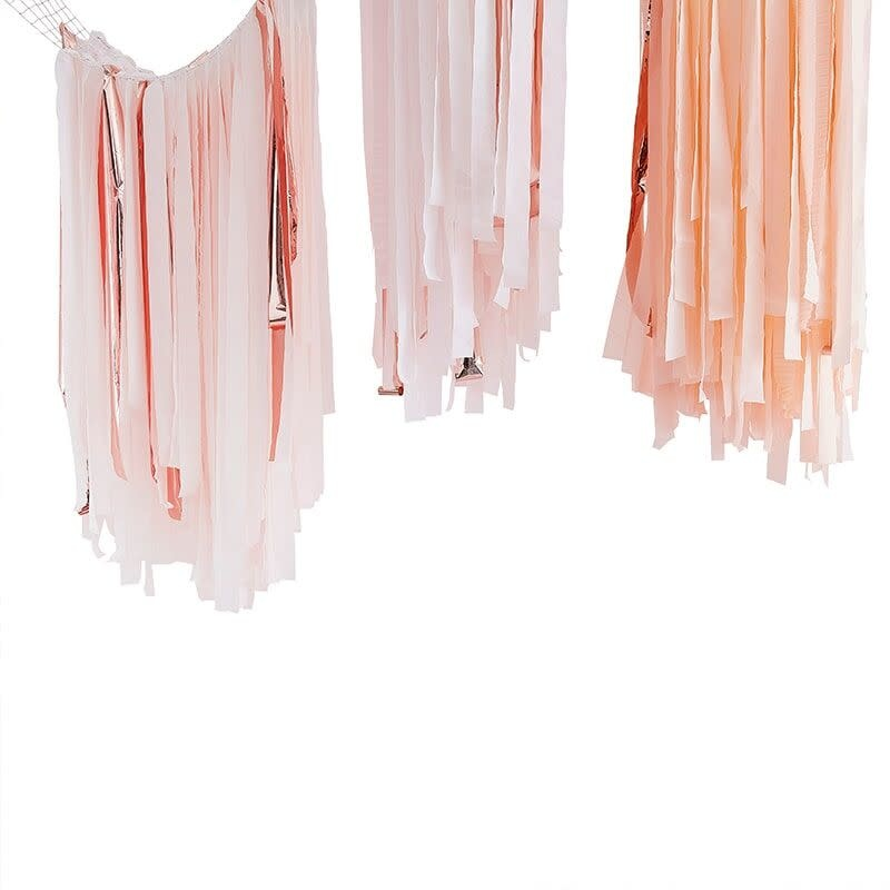 GINGERRAY BLUSH AND ROSE GOLD STREAMER CEILING DECORATION