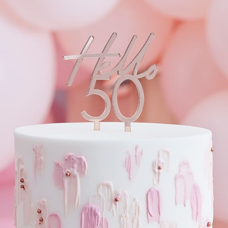 GINGERRAY 50TH HAPPY BIRTHDAY CAKE TOPPER
